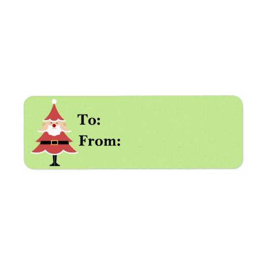 Etiqueta Regalo Lables de Santa del árbol de navidad
