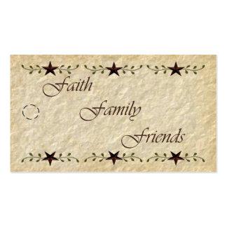 Etiqueta remilgada de los amigos de la familia de tarjetas de visita