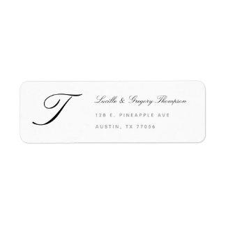 Etiqueta Remite de la familia de encargo de la elegancia