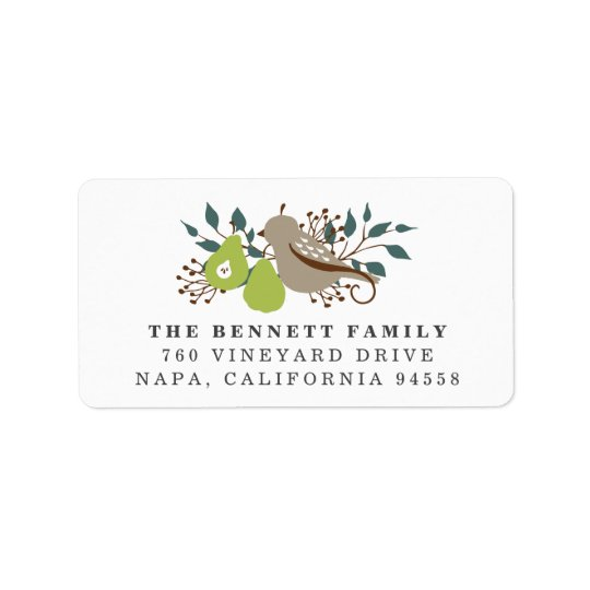 Etiqueta Remite del día de fiesta de la perdiz y de la pera