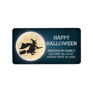 Etiqueta Remite del feliz Halloween fantasmagórico de la