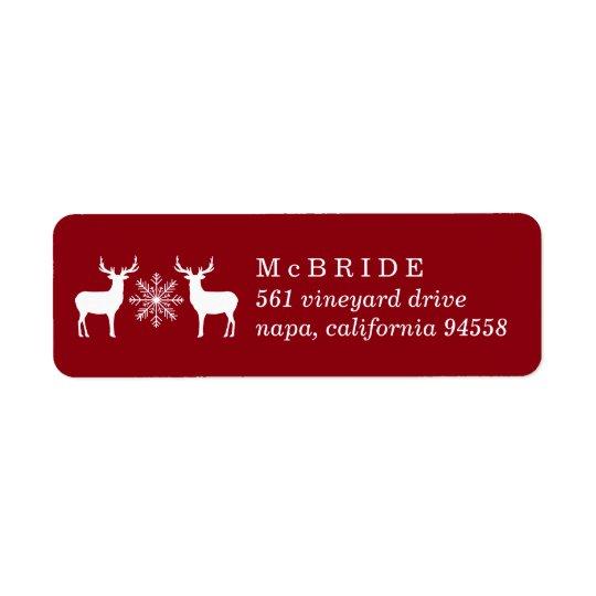 Etiqueta Remite del navidad de los ciervos del arbolado