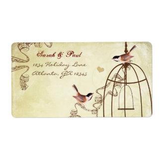 Etiqueta Remite del remolino musical de la jaula de pájaros