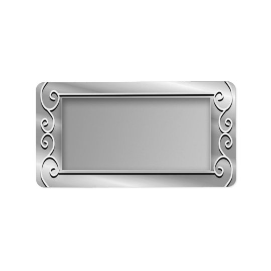 Etiqueta Remite en blanco de plata elegante