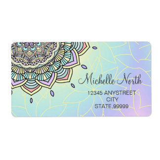 Etiqueta Resplandor en colores pastel Manala ID359