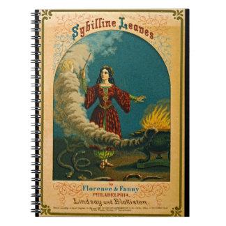 Etiqueta retra 1852 del tabaco cuaderno