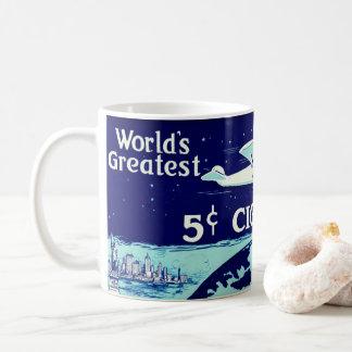 Etiqueta retra 1930 del tabaco taza de café