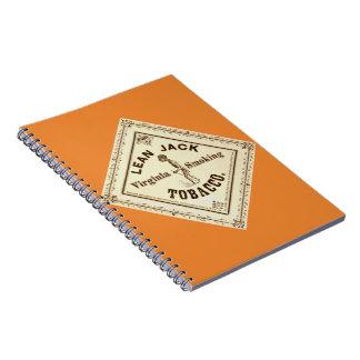Etiqueta retra del tabaco a 1867 cuaderno