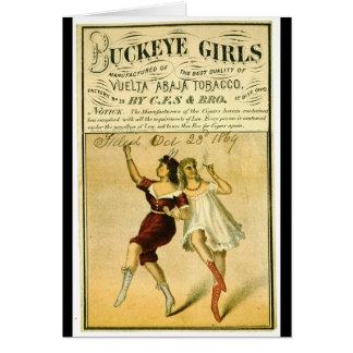 Etiqueta retra del tabaco f 1869 tarjeta
