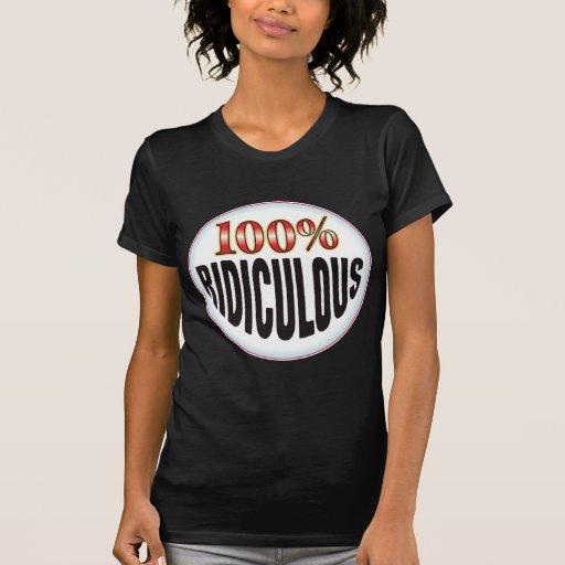 Etiqueta ridícula camiseta