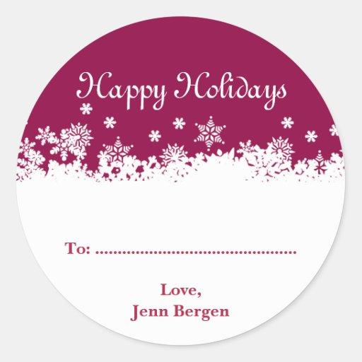 Etiqueta roja del regalo de vacaciones del navidad