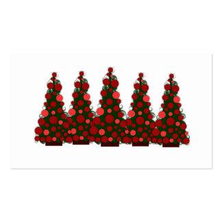 Etiqueta roja del regalo del árbol de navidad tarjetas de visita