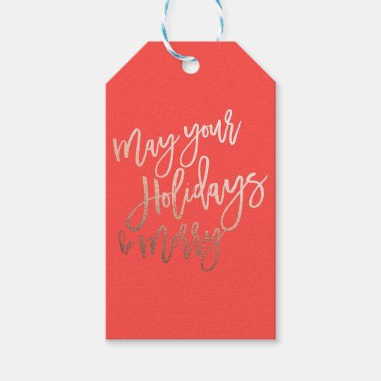 Etiqueta roja del regalo del navidad de los etiquetas para regalos