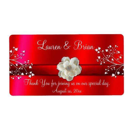 Etiqueta roja elegante del boda/del dulce etiquetas de envío