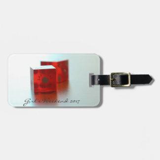 Etiqueta roja personalizada del equipaje de los