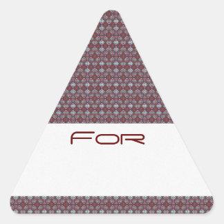 Etiqueta roja y blanca del regalo del modelo del