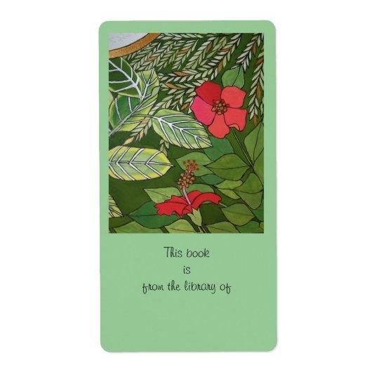 Etiqueta Rosa de la placa de libro de la selva de Sharon