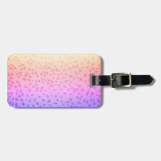 Etiqueta rosada del equipaje del leopardo