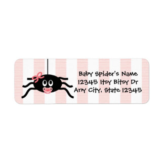 Etiqueta rosada del remite de la fiesta de etiqueta de remitente