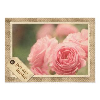 Etiqueta rosada del viaje del marco del papel del invitación 12,7 x 17,8 cm
