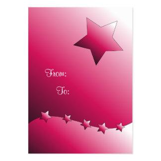 Etiqueta rosada linda del regalo de la estrella tarjetas de visita