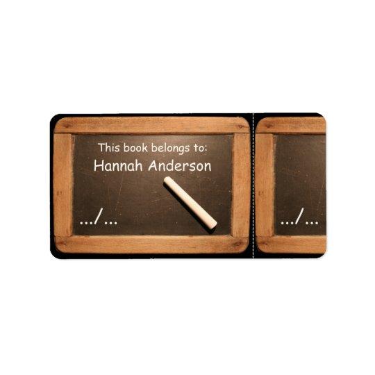 Etiqueta rústica del libro de la pizarra de la etiquetas de dirección
