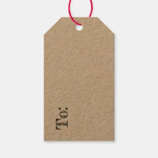 Etiqueta rústica del regalo