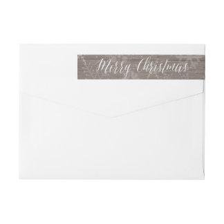 Etiqueta rústica del remite del navidad etiquetas envolventes de remitente