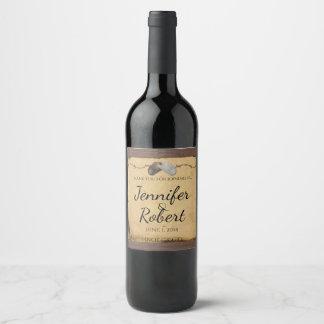 Etiqueta rústica del vino del alambre de púas de