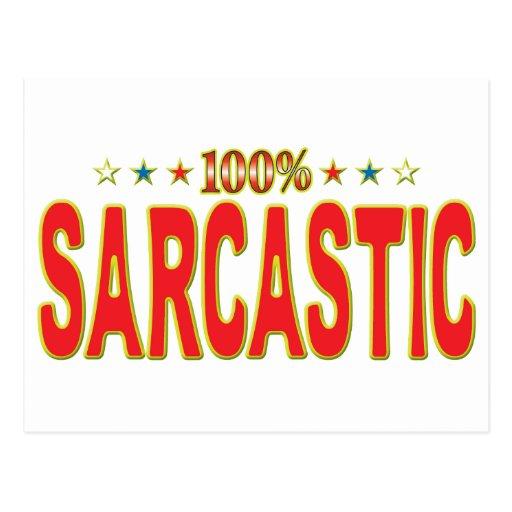 Etiqueta sarcástica de la estrella tarjetas postales