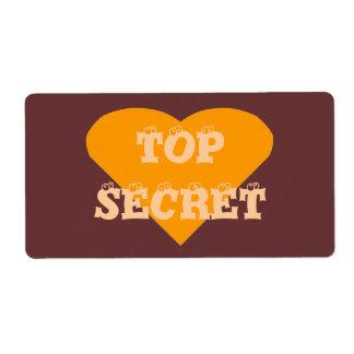 Etiqueta secretísima etiqueta de envío