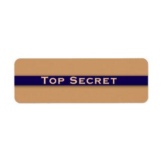 Etiqueta secretísima etiqueta de remite