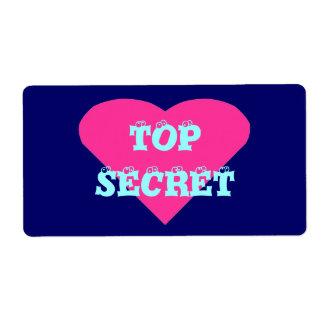 Etiqueta secretísima etiquetas de envío