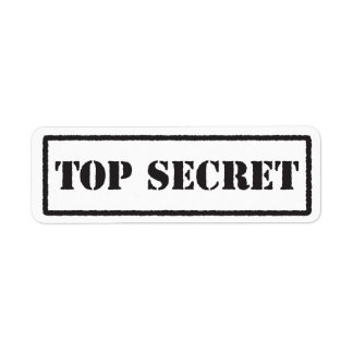 Etiqueta sellada negro secretísimo etiquetas de remite