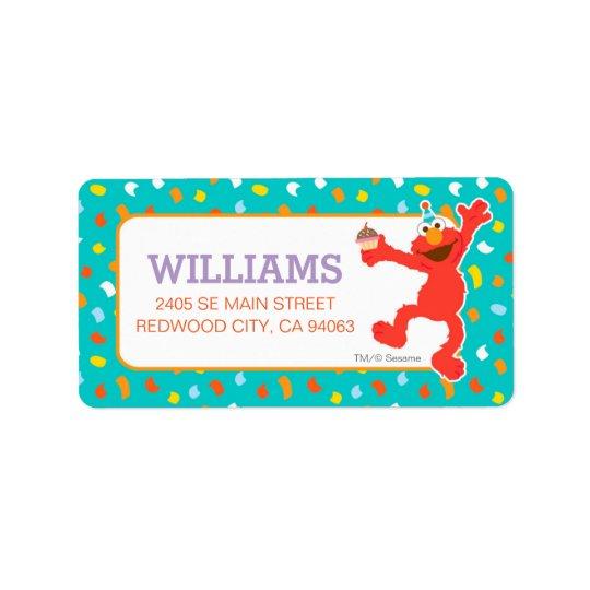 Etiqueta Sesame Street el | Elmo - cumpleaños de la