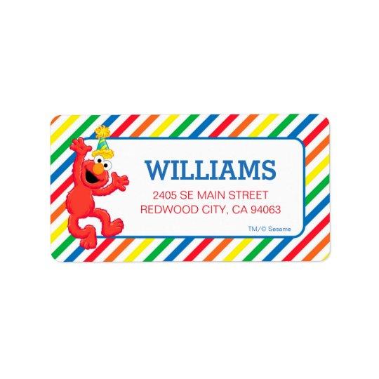 Etiqueta Sesame Street el | Elmo - cumpleaños del arco iris