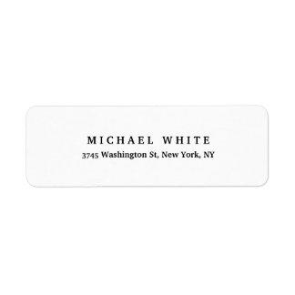 Etiqueta Simple minimalista clásico elegante llano