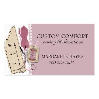 Etiqueta simulada de costura del regalo del vestid plantilla de tarjeta de visita