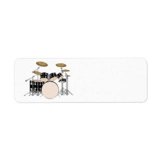 Etiqueta Sistema ilustrado del tambor
