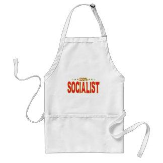 Etiqueta socialista de la estrella delantal