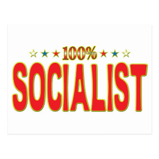 Etiqueta socialista de la estrella postal