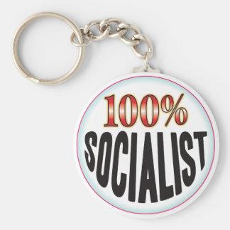 Etiqueta socialista llaveros