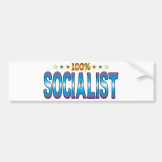 Etiqueta socialista v2 de la estrella etiqueta de parachoque