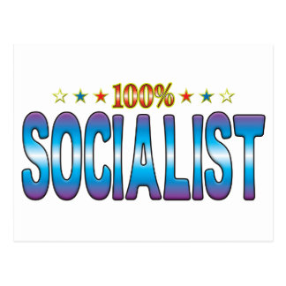 Etiqueta socialista v2 de la estrella tarjetas postales