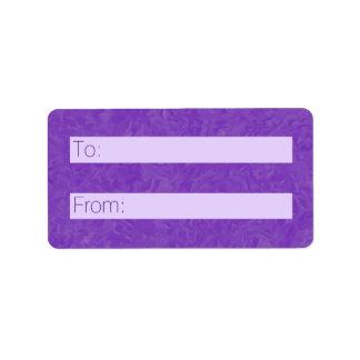 Etiqueta Sombras remolinadas del extracto púrpura y de las