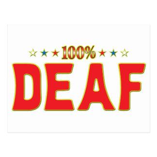 Etiqueta sorda de la estrella tarjeta postal