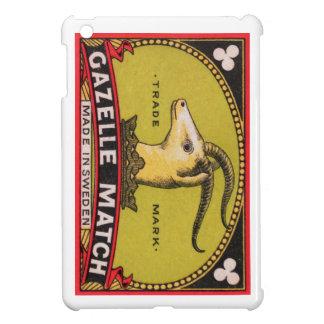 Etiqueta sueca de la caja de cerillas del Gazelle