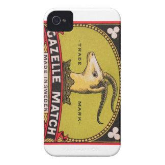 Etiqueta sueca de la caja de cerillas del Gazelle Funda Para iPhone 4