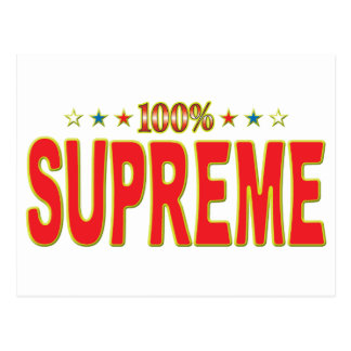 Etiqueta suprema de la estrella tarjeta postal