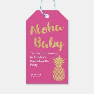 Etiqueta temática hawaiana del favor o del regalo etiquetas para regalos